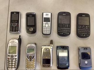 Lotes 14 Celulares Antigos, Motorola, Nokia, LG