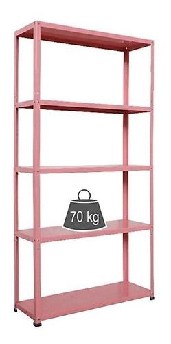 Estante De Metal Rosa 175x90x30cm Diseño Organizador
