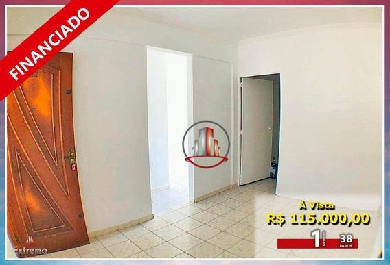 Kitnet Com 1 Dormitório À Venda, 38 M² Por R$ 115.000,00 - Boqueirão - Praia Grande/sp - Kn0236