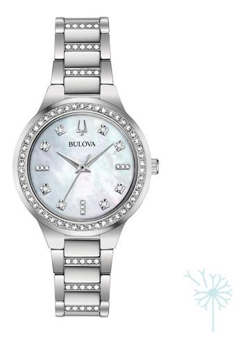 Imagen 1 de 4 de 96x147 Reloj Bulova Box Set Para Dama Plateado