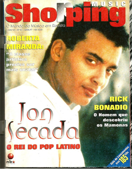 Revista Shopping Musica 02/97 - Jon Secada - Roberta Miranda
