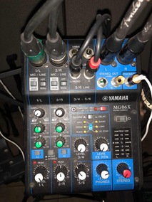 Yamaha Mg06x Mg 06x Mesa De Som Mixer Analogico Com Efeitos