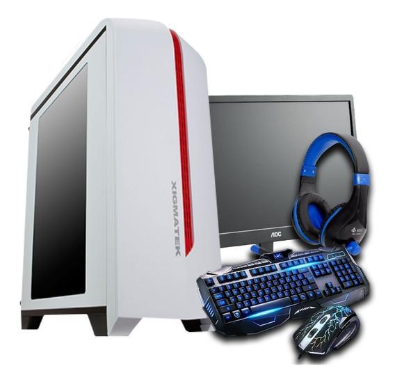 Cpu Gamer + Monitor19 Amd A4 7300/ 1tb/ 16gb/ Gt 1030/ Hdmi
