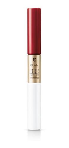 Imagem 1 de 4 de Batom Liquido Glam Duo Clinical Vermelho Magnifico - Eudora