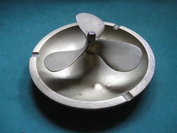 Cenicero Con Helice, De Bronce