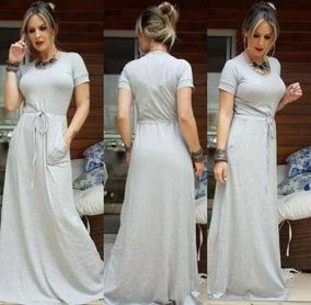 Vestido Longo Manguinha Moda Blogueira Plus Size Moda 2019