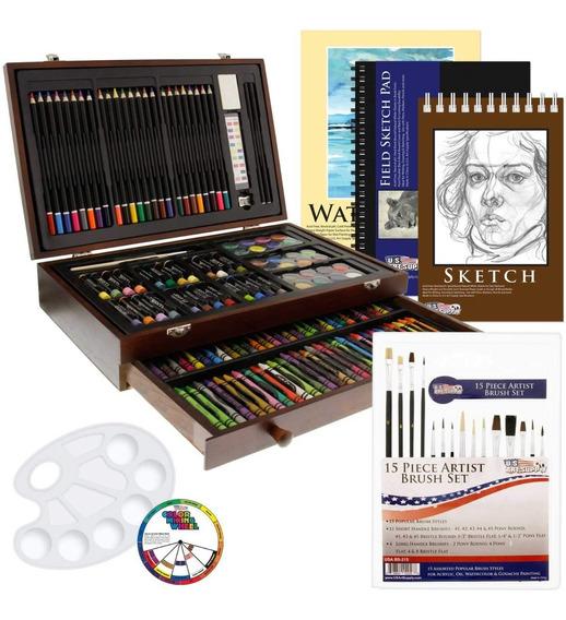 Kit Completo De 62 Pzas Arte Para Adultos Y Niños Pinturas