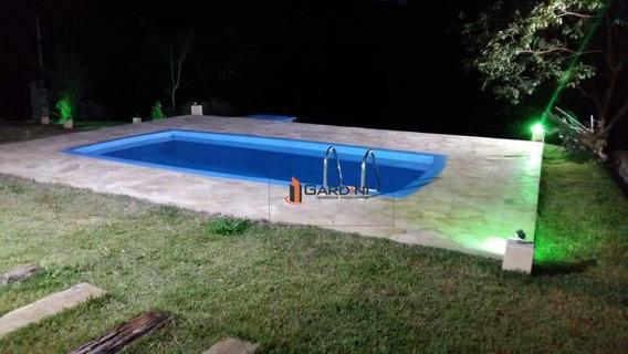 Chacara Em Guararema-3.600 - 200 M² Construídos- 02 Dorms- 01 Suite - Santa Branca - Ch0030