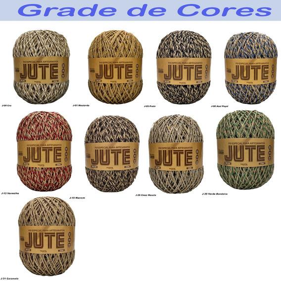 Fio Jute 250 Croche- Fio P/ Artesanato São João Kit 6