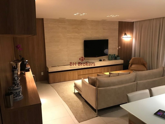 Ótimo Apartamento Mobiliado De 03 Quartos E 3 Vagas No Vila Da Serra! - 8440