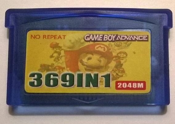 Cartucho 369 En 1 Game Boy Advance Gba Pokemon Mario Kirby