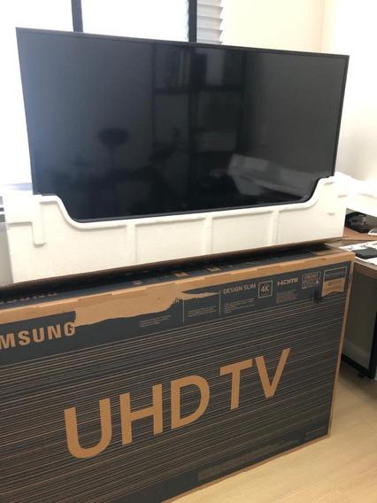 Tv Led 4k Samsung Nu7100 49 Polegadas - Tela Quebrada