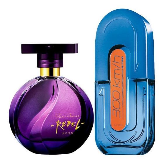 Perfume 300km Nitro + Perfume Far Away Rebel Avon