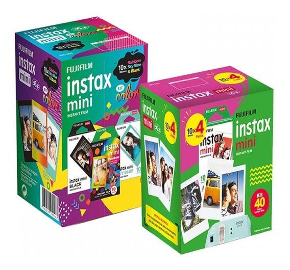 Kit Fujifilm Instax: Filme Color 3 Packs C/ 10 Poses