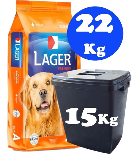 Imagen 1 de 2 de Lager Adulto 22 + Llavero Porta Bolsa +repuesto