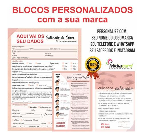 Ficha Personalizada Anamnese Alongamento De Cílios+ Cuidados