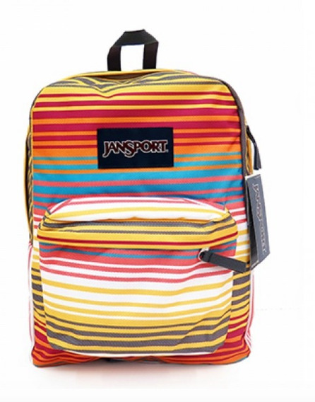 Mochila Jansport Superbreak Escolar Multi Sunset 25 L Rayada