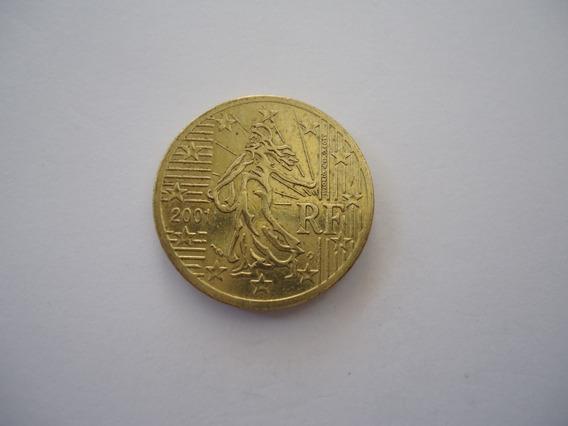 Moeda Bronze 50 Centavos Cent Euro 2001 República França
