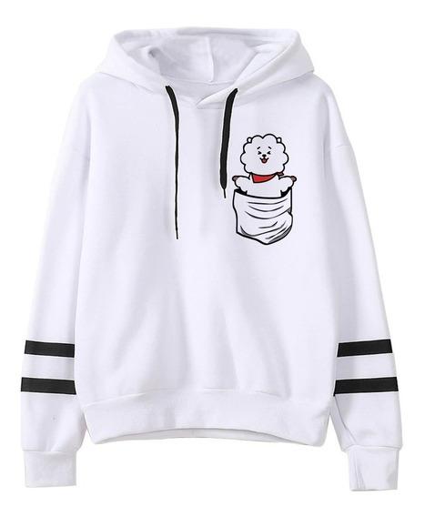 Blusa Moletom Canguru Bts Bt21 K-pop Dos Desenhos Animados