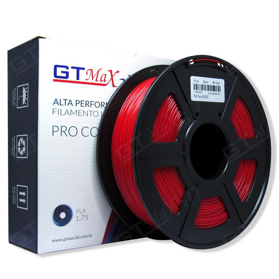Filamento Pla Plus Vermelho - 1.75mm - 1kg