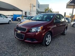 Chevrolet Aveo Lt Aut Ba Rojo Tinto