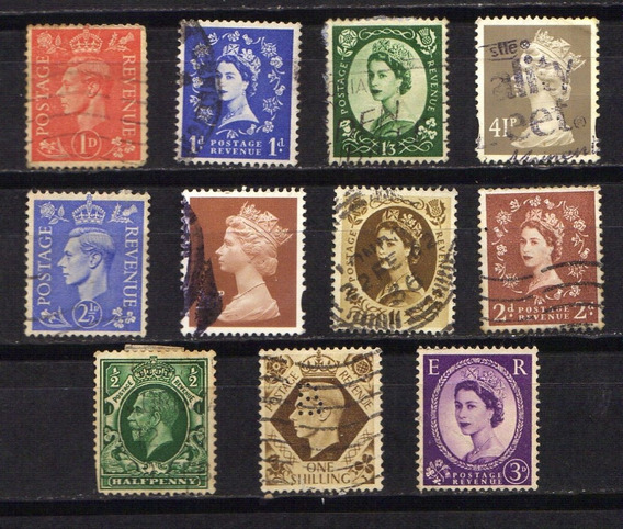 Numismza : Reino Unido 11 Dif Antiguas ( C 97) Oferta