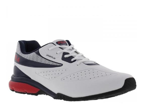 Tênis Fila Sportflag Branco/marinho/vermelho Masculino