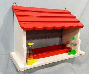 Comedouro Pássaro Silvestre De Parede/casinha De Passarinho