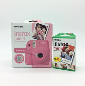 Câmera Instax Mini 9 Rosa Flamingo + Filme 20 Fotos