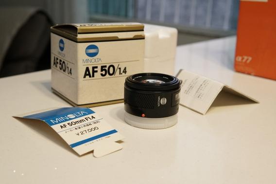 Lente Minolta Maxxum 50mm F1.4 - Sony Alpha