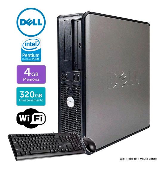 Desktop Usado Dell Optiplex 780int Dcore 4gb 320gb Brinde