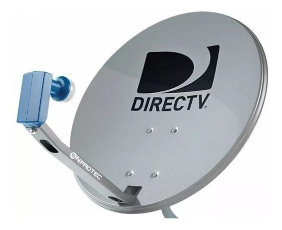 Antenas Directv, Con Lente Lnb Hd Azul, Nuevas Completa,