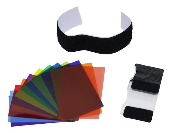 Filtro Colorido Gelatina 12 Cores Sou Foto Flash Dedicado