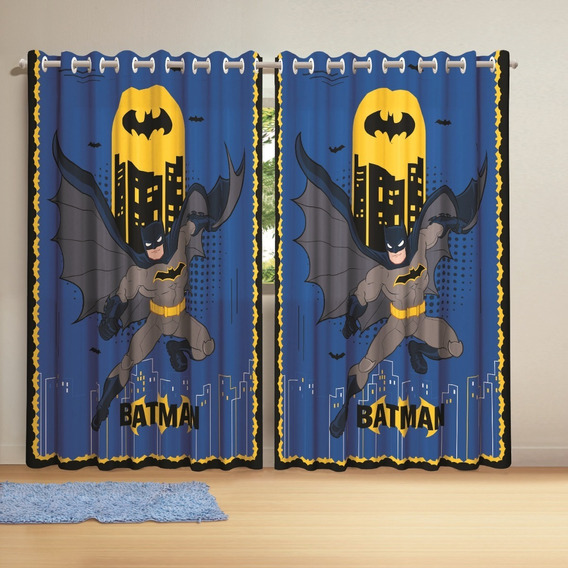 Cortina Com Ilhós Batman 3,00 X 2,10 Infantil Lepper