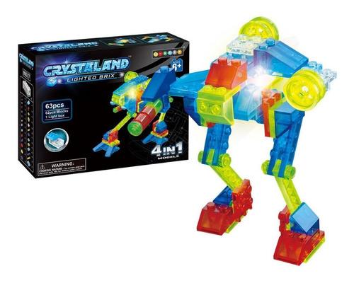 Bloques Ladrillos Con Luz Led Robot Juguete 4 En 1