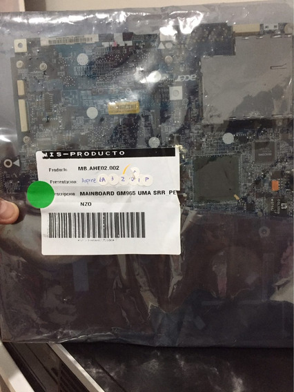 Placa Mae Acer Mb.ahe02.001, Motherboard, Acer, Aspire 5320,