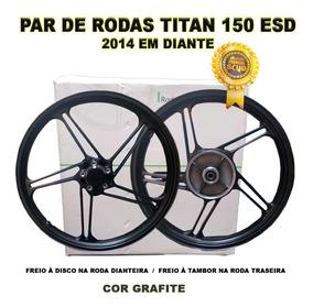 Jogo Rodas Titan 150 Alumínio Scud 5p Esd Liga Leve 2014...