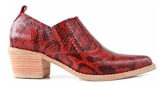Zapato Abotinado Mujer Cuero Briganti Botineta - Mccz33044