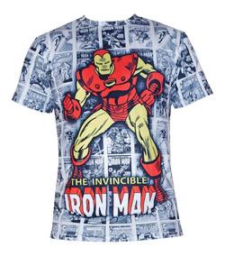 Camiseta Camisa Blusa Homem De Ferro Quadrinho Marvel Comic