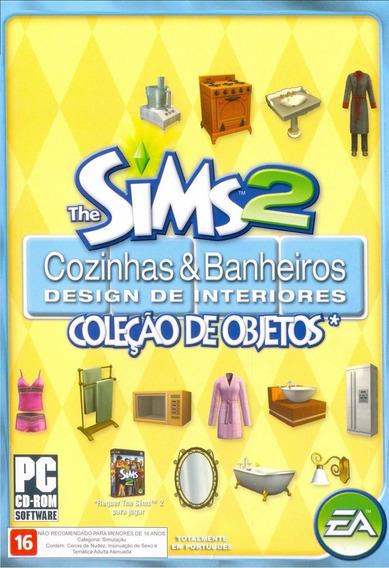 Game Pc Lacrado The Sims 2 Cozinhas Banheiros Objetos Cd-rom