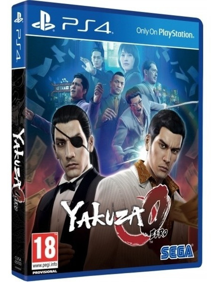 Jogo Yakuza 0 Playstation 4 Ps4 Midia Fisica Lacrado Barato
