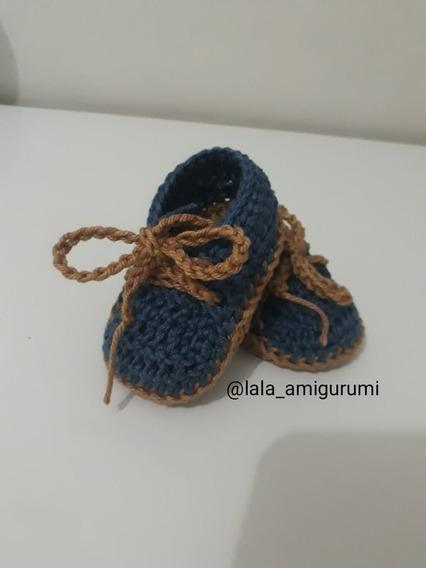 Sapatinho Bebê Sneakers Crochê