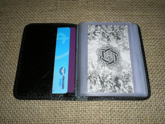 Porta Cartões Mini De Banco - Couro Legítimo- Cor Preto