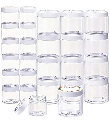 24 Envases Vacíos Con Tapas Herméticas, 12 Unidades De 6 Oz