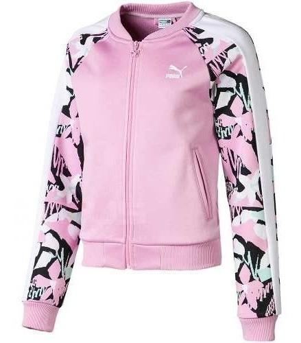 Campera Puma Classics T7 Aop Rosa Para Niñas