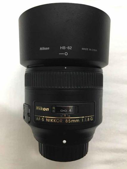 Lente Nikon 85mm 1.8g