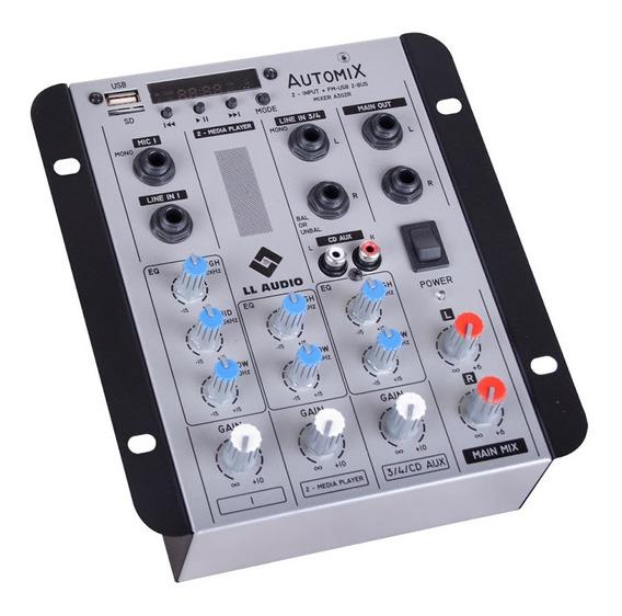 Mesa De Som Lláudio Automix A302rbt Bluetooth 2 Canais