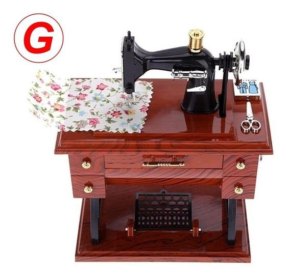 Porta Joias Caixinha De Música Máquina De Costura Vintage Gr