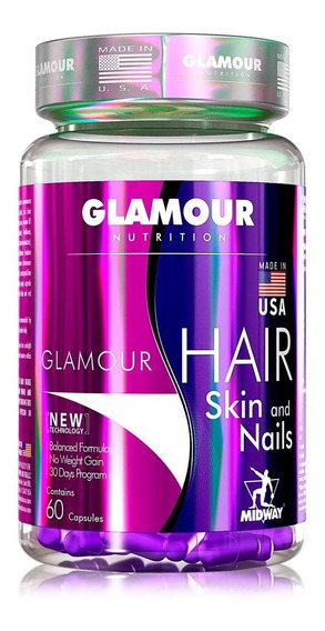 Hair Skin And Nails (60caps) Glamour Nutrition - Midway