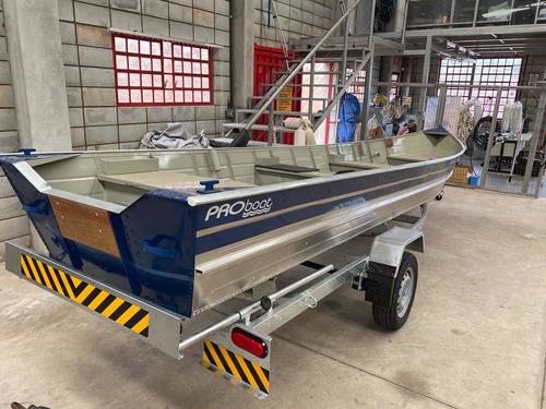Barco Para Pesca E Passeio Proboat 600 Com Carreta 0 Km!